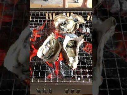 岩牡蠣の炭火焼き